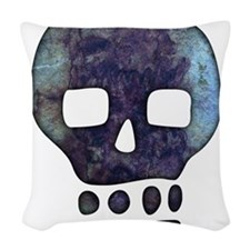 Textured Skull Woven Throw Pillow