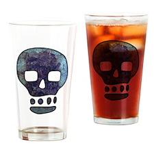 Textured Skull Drinking Glass