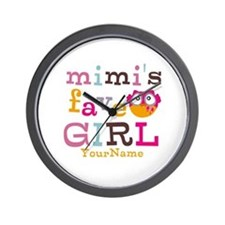 Mimis Favorite Girl - Personalized Wall Clock