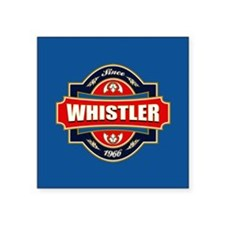 "Whistler Old Label Square Sticker 3"" x 3"""