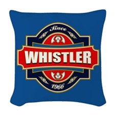 Whistler Old Label Woven Throw Pillow