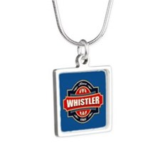 Whistler Old Label Silver Square Necklace