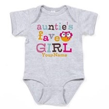 Personalized Aunties Favorite Girl Baby Bodysuit