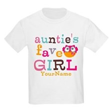 Personalized Aunties Favorite Girl T-Shirt
