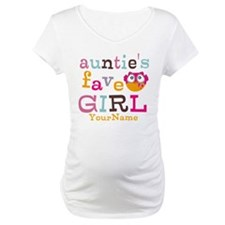 Personalized Aunties Favorite Girl Shirt