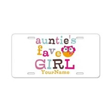 Personalized Aunties Favorite Girl Aluminum Licens