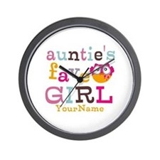 Personalized Aunties Favorite Girl Wall Clock