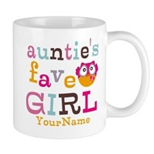 Personalized Aunties Favorite Girl Mug