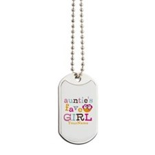 Personalized Aunties Favorite Girl Dog Tags