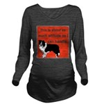 OYOOS Dog Attitude design Long Sleeve Maternity T-