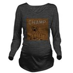 OYOOS Champ Dog design Long Sleeve Maternity T-Shi
