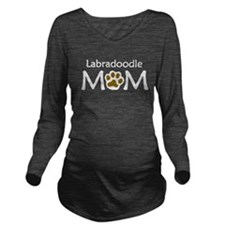 Labradoodle Mom Long Sleeve Maternity T-Shirt