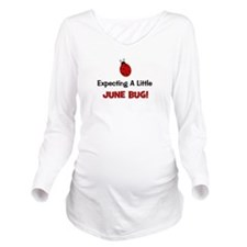 expectingalittlejunebug.png Long Sleeve Maternity