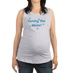 comingthiswinter_TR.png Maternity Tank Top