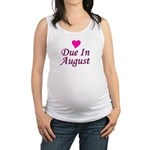 pinkheart_duein_august.png Maternity Tank Top