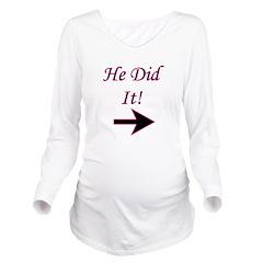hedidit.png Long Sleeve Maternity T-Shirt
