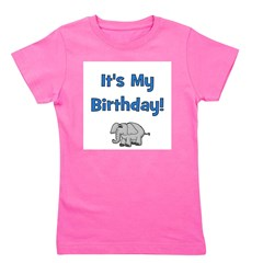itsmybirthday_blue_elephant.png Girl's Tee