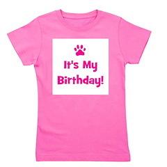 itsmybirthday_pink_pawprint.png Girl's Tee