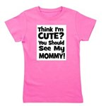 thinkimcute_mommy_black.png Girl's Tee