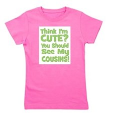 3-thinkimcute_cousins_green.png Girl's Tee
