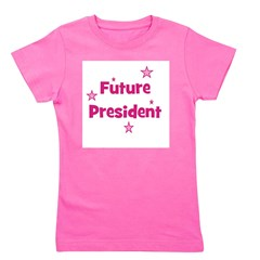 future president_pink.png Girl's Tee