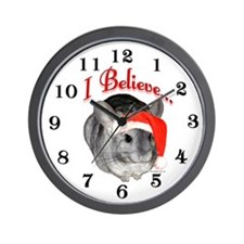 Chin I Believe (gray) Wall Clock