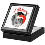 Chin I Believe (gray) Keepsake Box