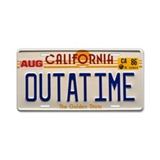 Outatime Back To The Future Aluminum License Plate