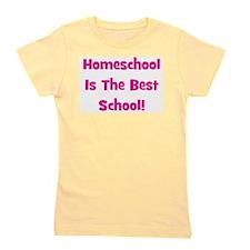 homeschoolisthebestschool_pink.jpg Girl's Tee