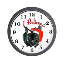 Chin I Believe (ebony) Wall Clock