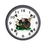 Chin Shamrock Wall Clock