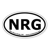 New River Gorge, WV Oval Car Decal