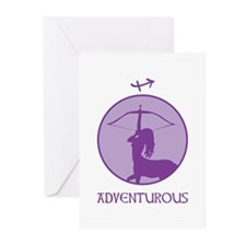 ADVENTUROUS Greeting Cards