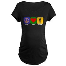 Peace Love Aliens Maternity T-Shirt