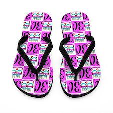 FABULOUS 30TH Flip Flops