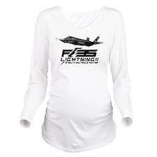 F-35 Lightning II Long Sleeve Maternity T-Shirt