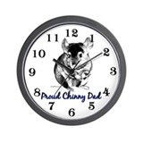 Chinny Dad Wall Clock