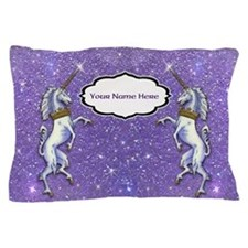 Unicorn Purple Glitter Personalize Pillowcase