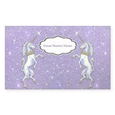 Unicorn Purple Glitter Personalize Decal