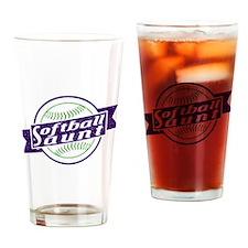 Softball Aunt Drinking Glass
