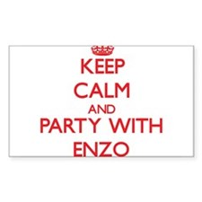 Keep Calm and Party with Enzo Decal