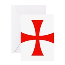 Knights Templar Cross Greeting Cards
