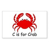 C is for Crab Rectangle Decal