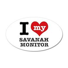 I love my Savanah Monitor 20x12 Oval Wall Decal