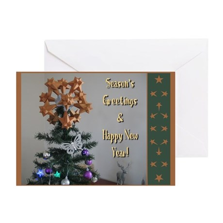 Polyhedral Christmas Greeting Cards