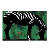 Zebra Postcards (Package of 8)