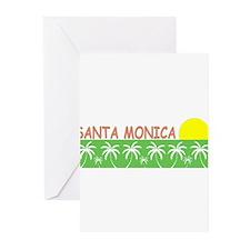 Santa Monica, California Greeting Cards (Package o