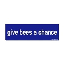Cute Give peace chance Car Magnet 10 x 3