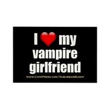 """Love My Vampire Girlfriend"" Rectangle Magnet"