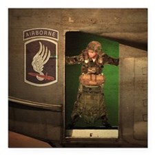 "173rd Jumpmaster Square Car Magnet 3"" x 3"""